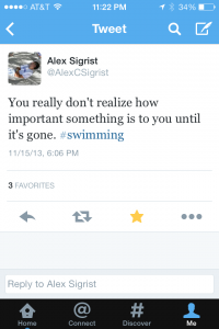 Alex's tweet after State